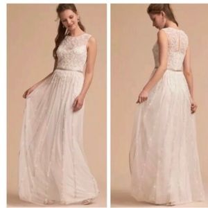 BHLDN Eliza wedding dress ivory